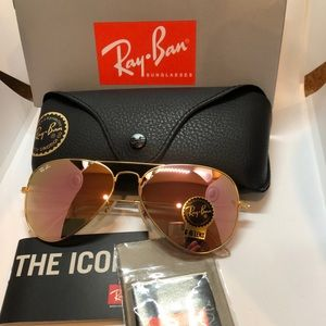 New Authentic Ray-Ban Aviator Classics RB3025